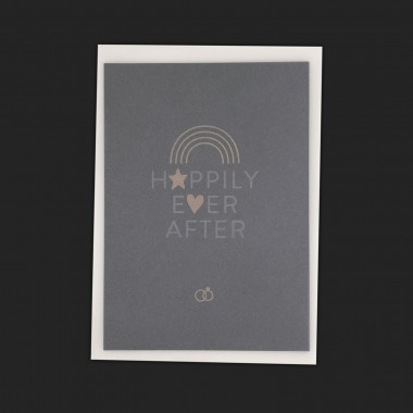 Feingeladen // TYPOGRAFICA // Happily Ever After (Black Edition) – A6