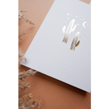 GOLDEN CACTI - PETITE PLANNER 2020 - A6 Kalender - Anna Cosma