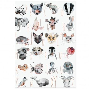 TIERE ABC POSTER