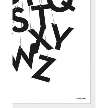 "Art.Nr. HundLABC2  Held&Lykke Alphabet-Poster ""ABCircus black"" (DIN A2)"