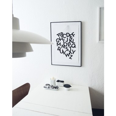 "Art.Nr. HundLABC2Held&Lykke Alphabet-Poster ""ABCircus black"" (DIN A2)"