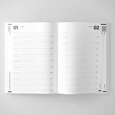 ACD DESIGN.BÜRO / Das 10-Jahre Tagebuch / Pantone Deep Black