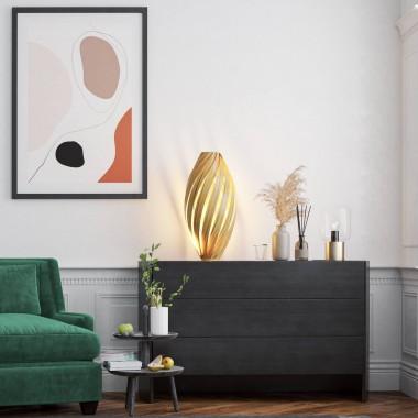Bodenleuchte 'Ardēre' aus Olivesche - 70cm