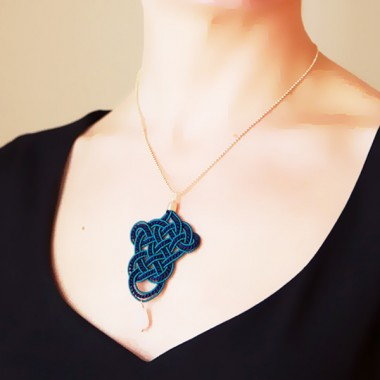 »Posamente« Kette in blau & turkie