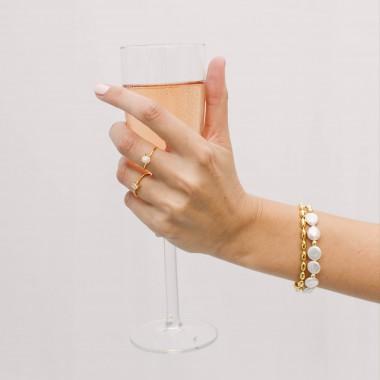 ST'ATOUR AURORA – Armband mit Perlen in Gold, Silber oder Roségold