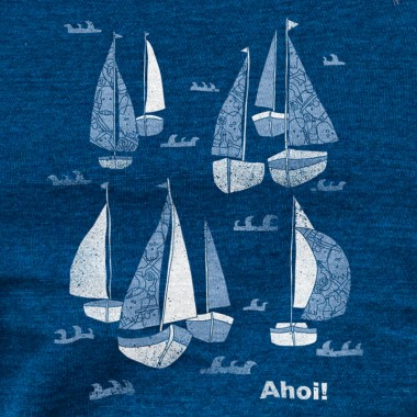 Keregan* – Schiff Ahoi! - Ladies Organic Cotton T-Shirt
