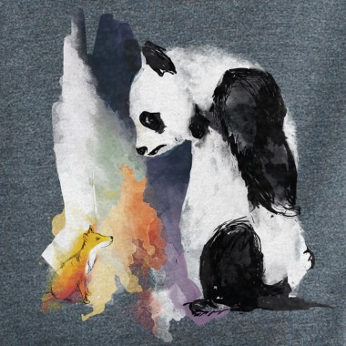 Life in Vanilla Panda and Fox Unisex Recycled Organic Sweatshirt
