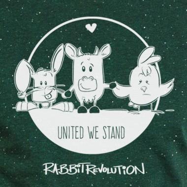 Rabbit Revolution - United we Stand - Organic Cotton T-Shirt