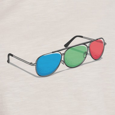 Robert Richter – 3D Glasses - Mens Organic Cotton T-Shirt