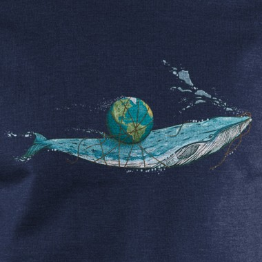Robert Richter Save the Planet Whale Unisex Recycled Organic Sweatshirt