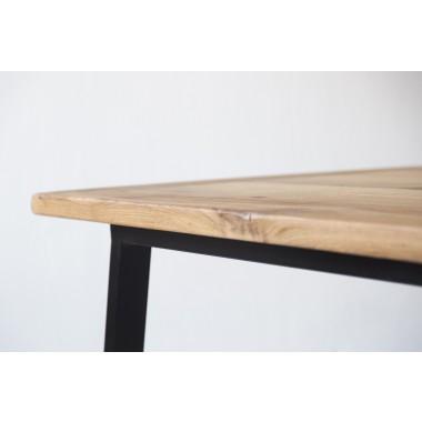 Esstisch aus Altholz Eiche Jasmijn/Aleida 200x100cm schwarz
