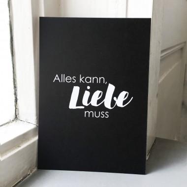 """Love is the new black – Postkarten-Set """"Alles kann, Liebe muss"""""""