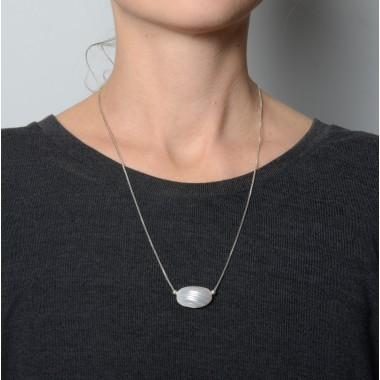 "Teresa Gruber Kette ""Mother of pearl- Shell"", 925 Silber"