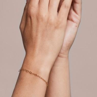 just diamonds bracelet - 925 Sterlingsilber 18k goldplattiert