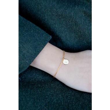 Oh Bracelet Berlin – Handgeprägte Armkette »Letter« rosévergoldet mit Buchstabe inkl. Box
