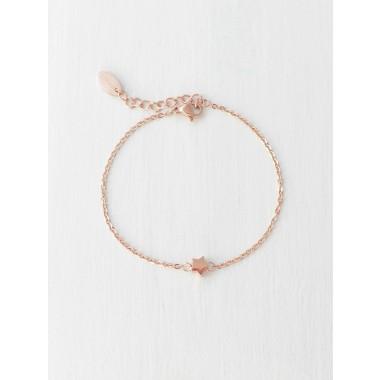 Oh Bracelet Berlin - Armband »Stern«   Farbe Rosegold inkl. Frohe Weihnachten Karte