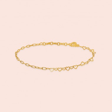 just hearts bracelet - 925 Sterlingsilber 18k goldplattiert