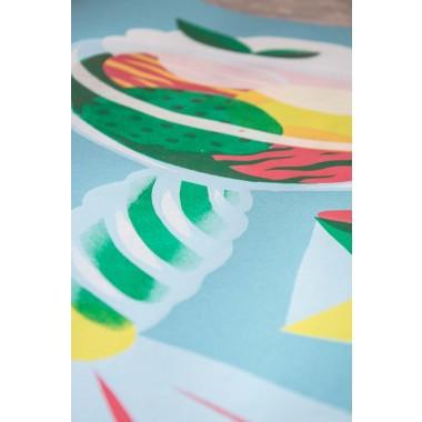 Stencil Artprint »Eisbecher Erdbeere« 50x70cm