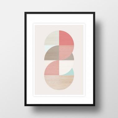 """Amy & Kurt Berlin A3 Artprint """"Wooden Circles"""""""