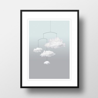 "Amy & Kurt Berlin A3 Artprint ""Wolkenmobile"""