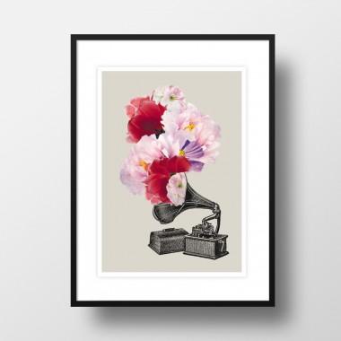 """Amy & Kurt Berlin A3 Artprint """"Blumophon"""""""