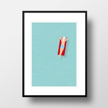 """Amy & Kurt Berlin A3 Artprint """"Luftmatratze"""""""