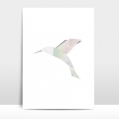 "A4 Artprint ""Origami Kolibri"""