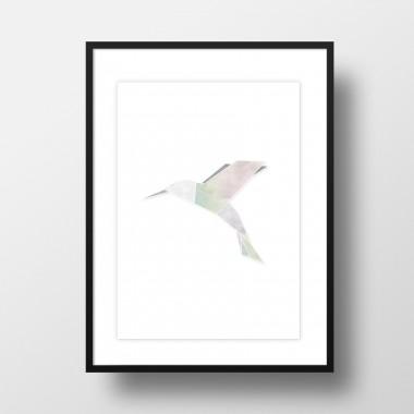 "Amy & Kurt Berlin A3 Artprint ""Origami Kolibri"""