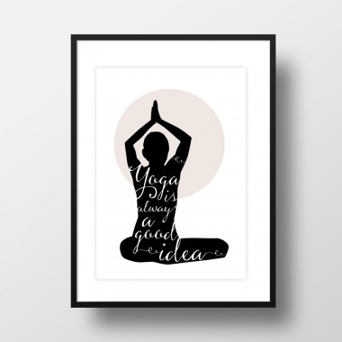 """Amy & Kurt Berlin A3 Artprint """"Yoga"""""""