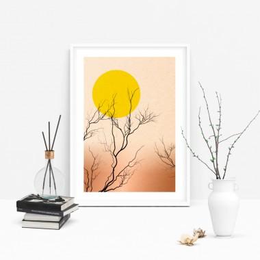"""Amy & Kurt Berlin A4 Artprint """"Japanische Sonne"""""""