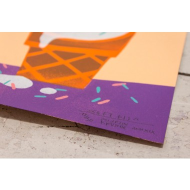 Stencil Artprint »Softeis« DINA4