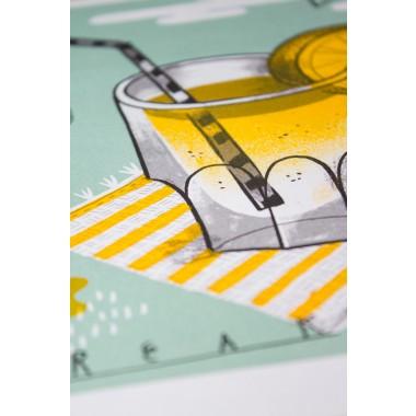 Stencil Artprint »Zitronenlimonade« DIN A4
