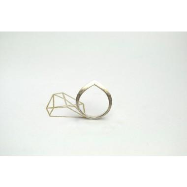 """Ring """"AUFGESTELLT"""" aus 925/- Silber"""