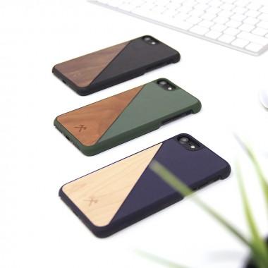Woodcessories - EcoCase Split - Premium Design Hülle, Case, Cover für das iPhone aus FSC zert. Holz (iPhone 7 Plus/ 8 Plus, Walnuss/Schwarz, Ahorn/Blau, Kirsch/Grün)