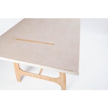 Pirol Furnituring Pit Frame, Table (MDF/ 160cm | Beine, Eiche/Natur)