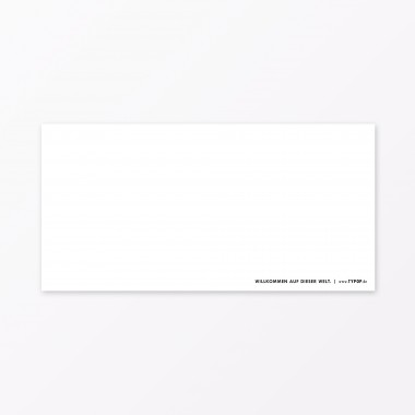 "TYPOP 6-teiliges Set Design BABYKARTE ""Willkommen"" DIN lang inkl. Umschlag"