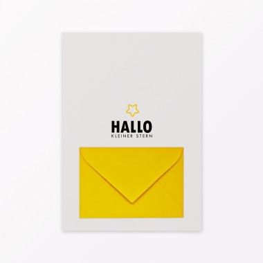 TYPOP 5-teiliges Set Design BABYKALENDER Hallo kleiner Stern inkl. Umschlag