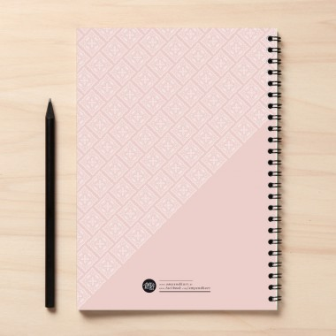 "A5 Rezeptbuch ""Sugar"" rosa"