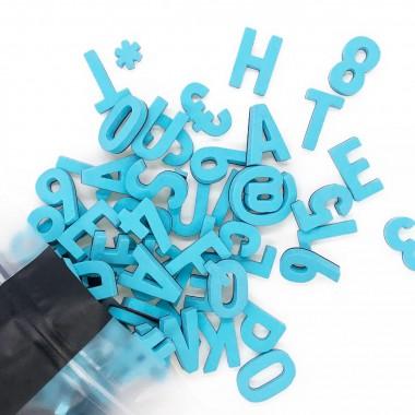 Set mit 200 modernen Magnetbuchstaben, Zahlen & Sonderzeichen. BALI BLAU | TYPE OH