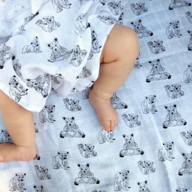 Bären Musselin Baby Set (GOTS, 3-teilig)