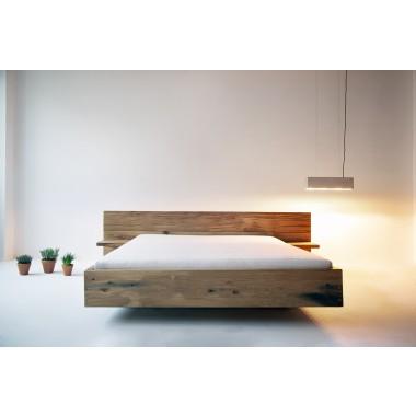FraaiBerlin Altholz Eichen Bett Chadron mit 2 Nachtbrettchen