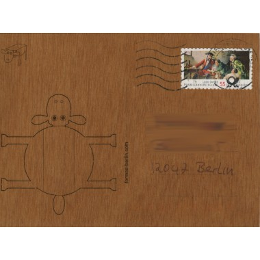 formes Berlin Schaf-Karten - 6 Postkarten aus Holz