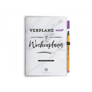 """Wochenplaner Notizbuch """"Verplane dich!"""" - Flieder"""