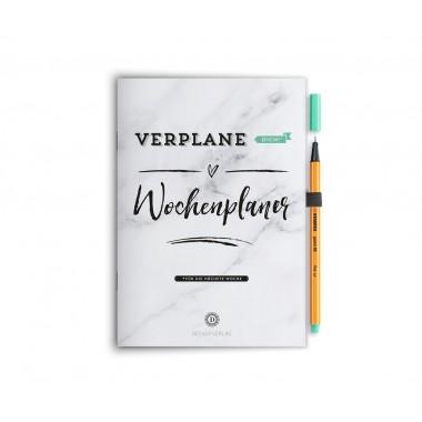 """Wochenplaner Notizbuch """"Verplane dich!"""" - Mint"""