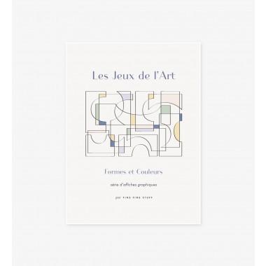 FINE FINE STUFF - Poster - Les Jeux de l'Art - bleu - 30x40