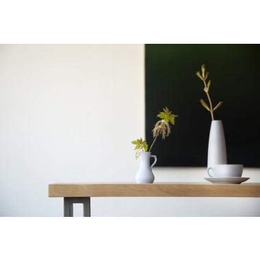 FraaiBerlin Esstisch aus Birkenholz & Eisen Yael/Loren 300x70cm