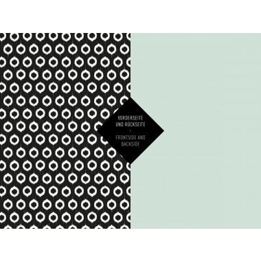 5x Geschenkpapier / Black n White (gefaltet)