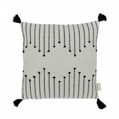 adorist - Boho Kissenbezug Tassel, quadratisch