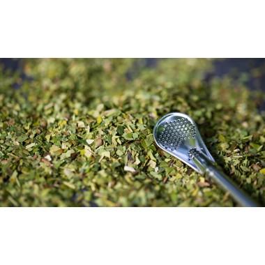 Maraña Bombilla Strohhalm Löffel für Mate Tee ● Trinkrohr aus Edelstahl ● Trinkhalm mit Sieb filtert Teeblätter ● Strohhalm auch perfekt für Grünen Tee & Matcha Tee ● Spülmaschinenfest, langlebig