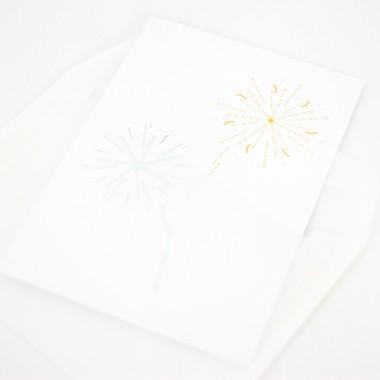Grußkarten Goldener Winter